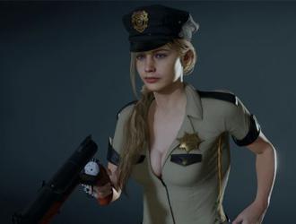 《生化2重制》性感女警克萊爾在線執法