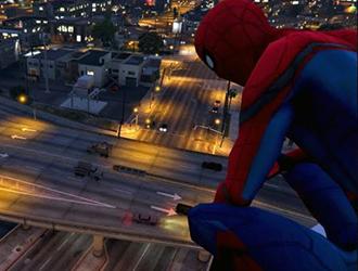 没有PS4?GTA5里也可爽玩蜘蛛侠!