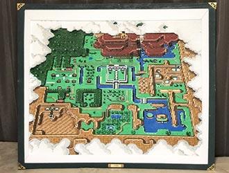 日本高玩用烫珠还原《塞尔达传说》地图!