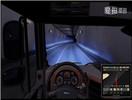 《欧洲卡车模拟2》夜间行驶