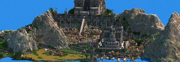 大神花费四年半在《我的世界》中打造最终幻想王国