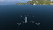 飞机和战舰的交锋