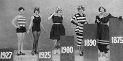 那些记录历史瞬间的老照片 1875年的泳装布料有点多