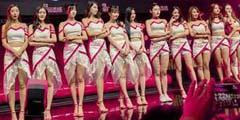 CJ2017:美女showgirl全家福 满屏大长腿目不暇接!