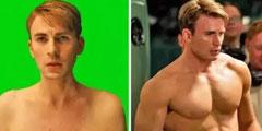 这些好莱坞大片镜头全是假的 美国队长瘦弱的背后真相