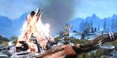 《老滚5:天际》Switch版试玩演示 大战巨人被抡飞!
