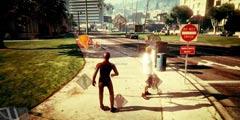 《GTA5》闪电侠MOD最新演示 自带闪电特效摧毁一切