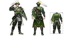 《真三国无双8》马岱设定图公布 衣帽突出蜀国的绿色