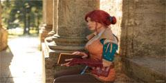 《巫师3》特莉丝超性感COS 胸前风光无限大胆玩火!