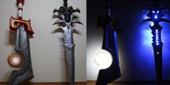 《魔兽》玩家自制发光版灰烬使者霜之哀伤 造型中二