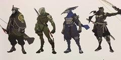 《守望先锋》角色早期设计图曝光 源氏竟有12种设计