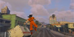 《GTA5》龙珠悟空Mod演示孙悟空气功波轰翻洛圣都