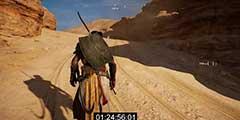 玩家徒步穿越《刺客信条:起源》地图 耗时近3小时!