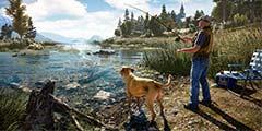 《孤岛惊魂5》绝美西部场景预告 钓鱼玩法才是重点!