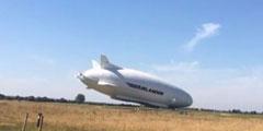 """世界最大飞行器""""飞天屁股""""摔烂了!已耗资1亿英镑"""