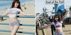 日本写真女星浅川梨奈福利美照 比基尼湿身照诱人!