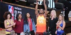 有如NBA 2K操作 扣篮大赛米切尔致敬卡特勇夺扣篮王