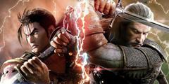 《灵魂能力6》公布游戏封面 杰洛特双手持剑火花四溅