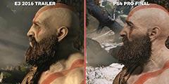 """《战神4》宣传与实机画面对比 反向""""缩水""""哪家强?"""