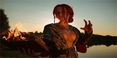 《巫师3》特莉丝性感Cos 外露半球让人脸红心跳!