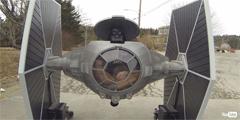 星战粉强势打造TIE战机还原版 可以兜风回头率超高!