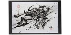 《机动战士高达》推出5幅水墨插画 每幅售价破万元!