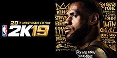 《NBA 2K19》20周年纪念版封面公布!詹皇驾临!