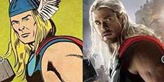 巴基内裤外穿!20位超级英雄漫画和电影造型对比图