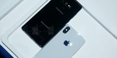 三星Note9与iPhone X真机对比图 高水准工业设计!