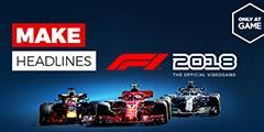 《F1 2018》实机演示预告 呈现超强模拟画面效果!