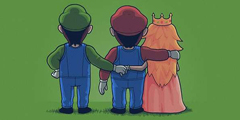 西班牙艺术家超贱插画 路易基和碧琪公主才是真爱?