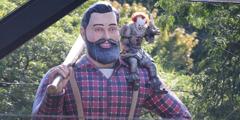 《小丑回魂2》片场照曝光 小丑吊钢索要上天的节奏?