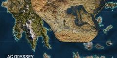 《刺客信条:奥德赛》和《起源》地图对比竟大三倍!