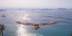 《刺客信条:奥德赛》地图实在大!鸟要飞将近半小时