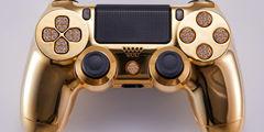 镀金镶钻土豪PS4手柄了解一下 售价高达1.4万美元!