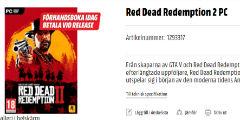 《大镖客2》明年登陆PC?瑞典零售商你是认真的吗?