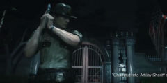 《生化危机2:重制版》里昂新警官服装演示 湿身还行