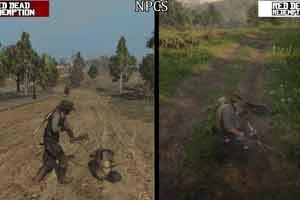 《荒野大镖客2》与初代系统对比视频:细节值得点赞!