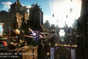 《超越善恶2》实机游戏画面公开 近身搏斗激烈空战!