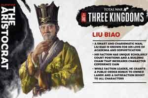 《全面战争:三国》刘表权力介绍 汉末名士 老谋深算