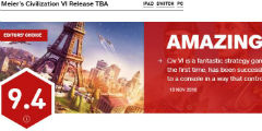 Switch版《文明6》獲得IGN9.4分評價 今日正式上線!