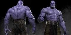 《复仇者联盟3》灭霸CG图曝光 一身傲人紫色肌肉