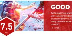 《戰地5》IGN總評7.5分 整個系列中竟只排倒數第三!