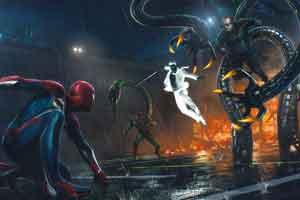《漫威蜘蛛侠》部分原画 蜘蛛侠屁股设计更有肌肉感