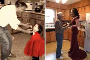 """那些見證時光輾轉的老照片 """"穿越""""30年的父女合照"""