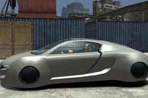 侃爷晒《GTA4》奥迪概念跑车 网友:请你把它造出来