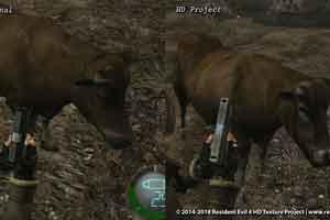 《生化危机4》民间HD版新比照截图 连牛都高清了!