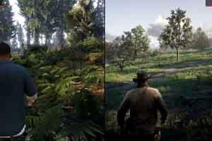 《GTA5》vs《荒野大镖客2》画面比照 差距明显!