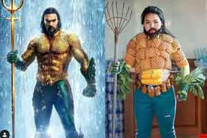 泰国廉价COS新秀化身《海王》 腹肌竟然是烤玉米!