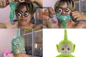 泰国廉价COS天王最新力作 套套套头变身天线宝宝!